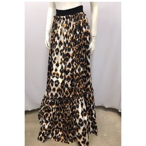 NWT Roberto Cavalli Long Animal Print Skirt 40 S
